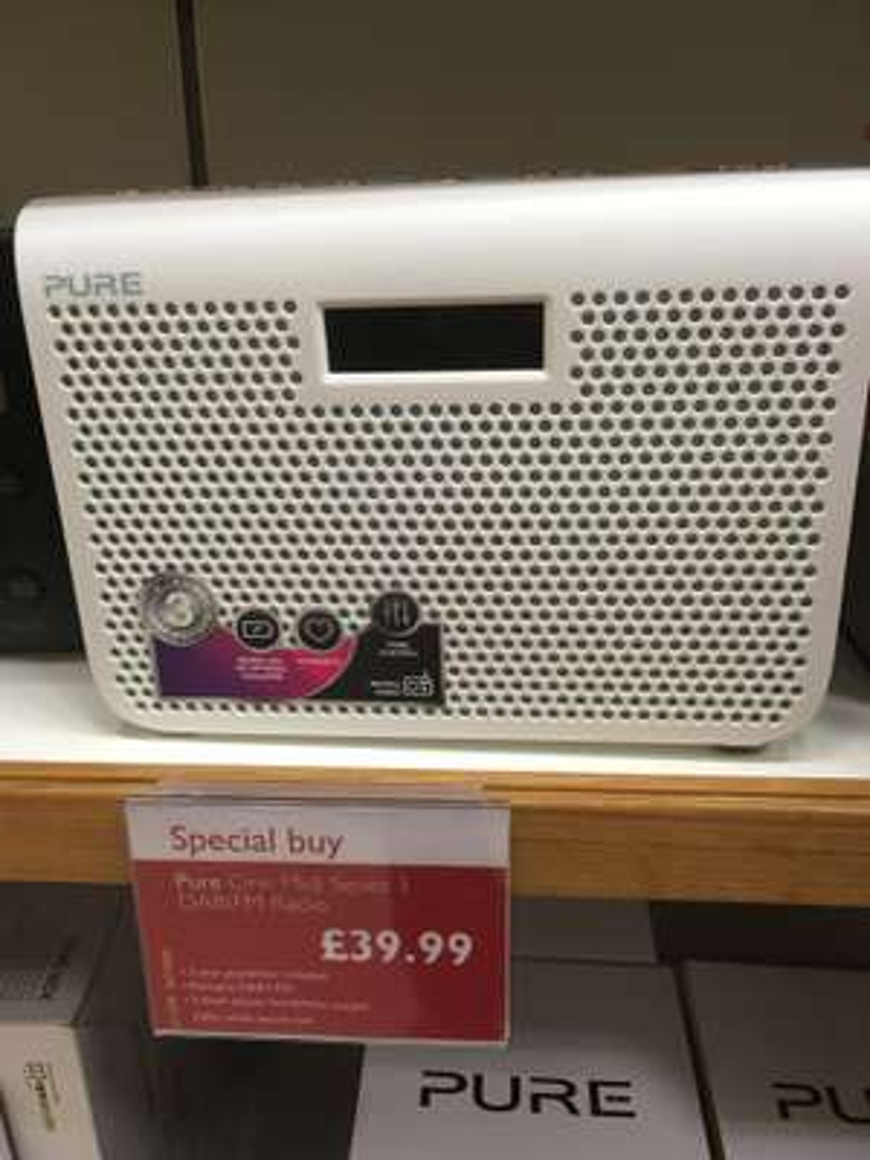 Pure One Midi Series 3 DAB+/FM Portable Radio £39.99 @  John Lewis & Partners