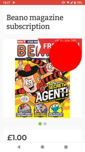 (Price error confirmed) Beano Magazine Subscription 50 issues £1