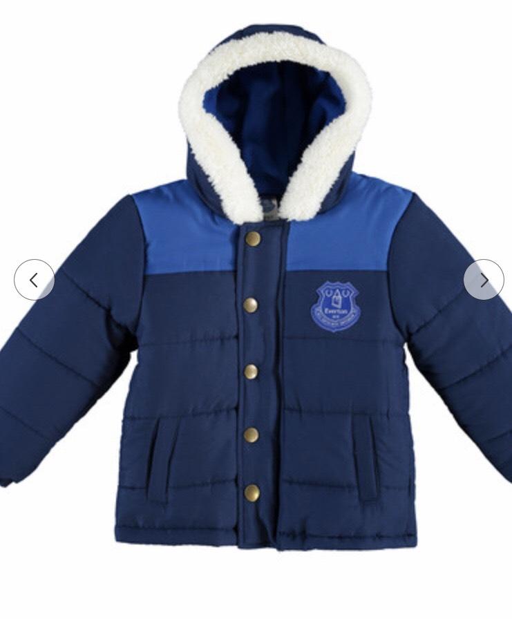 Everton crest jacket (4-5yrs & 6-7yrs) free postage