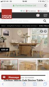 Oak dining table and lovely cream chairs with free delivery