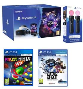 PlayStation VR Starter Bundle with Astro Bot (or Firewall/Wipeout) Fruit Ninja (or Rick and Morty) + Move twin pack - £224.99 @ Argos