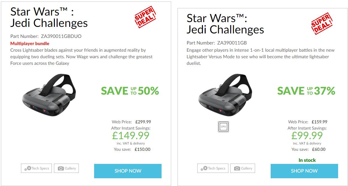 Lenovo Star Wars: Jedi Challenges £99.99 @ Lenovo