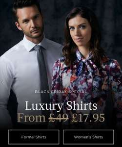Hawes & Curtis shirts from £17.95 (Plus £4.95 delivery) and 10% Discount