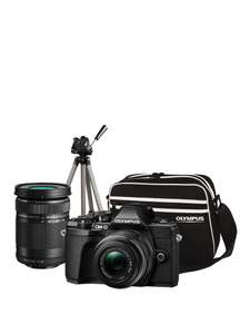 Olympus OM-D E-M10 MK III Compact System Camera Traveller Kit - 14-42mm and 40-150mm lens, Tripod and Bag @ Very (£534.99 after cashback)