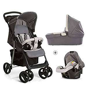 Hauck Shopper SLX Trio Set Lightweight Travel System, from Birth, Grey (Car Seat, Carrycot and Raincover) £119.90 @ Amazon