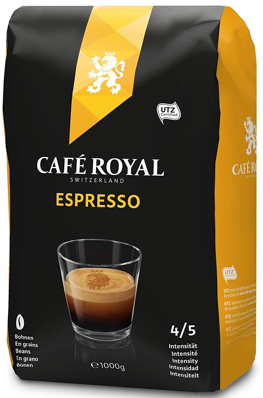 Café Royal Espresso Roasted Coffee Beans, 1 kg £6.18 (Prime) / £10.67 (non Prime) at Amazon