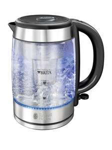 Russell Hobbs 20760-10 Glass Kettle with Built in Purity BRITA MAXTRA Filter & Blue Light (£59.99 in Argos) - £29.99 Free C&C @ Robert Dyas