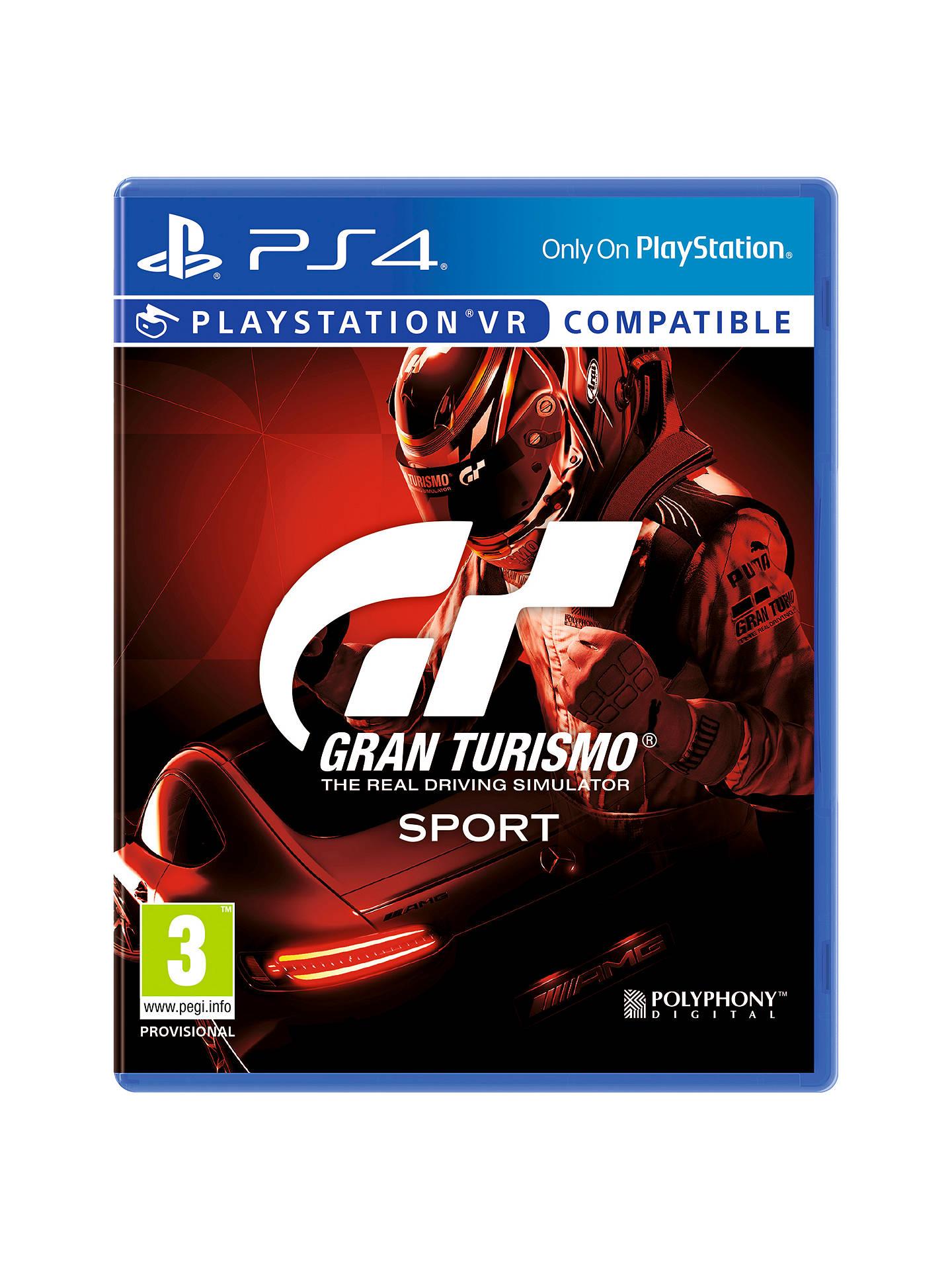 Gran Turismo Sport, PS4 £12 + £2 c+c @ John Lewis & Partners
