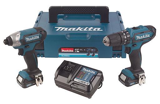 £100 Makita CXT 2Ah Li-ion Combi drill & impact driver twin kit 2 CLX202AJ @ B&Q