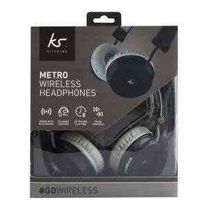 Up to 8 hours playtime - KitSound Metro Wireless Bluetooth Headphones Black- £13.99 @ Vodafonestore eBay