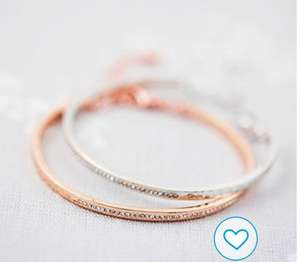 Bangle made with Swarovski crystals at NOTHS/J&S Jewellery for £5.40 delivered