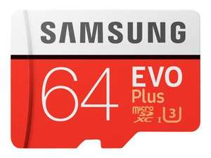 Samsung 64GB EVO Plus Class 10 UHS-I U3 microSDXC card + SD adapter for £10 delivered @ BT Shop (+10 Years Warranty)