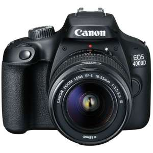 Canon EOS 4000D DSLR Camera Kit with 18-55 III Lens - £194.99 (with code) @ eGlobal Central
