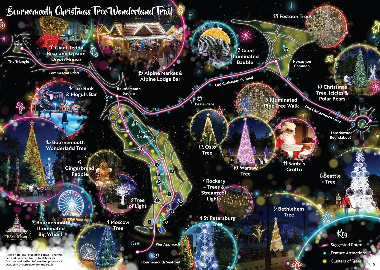 Bournemouth's Christmas Tree Wonderland is free to visit.