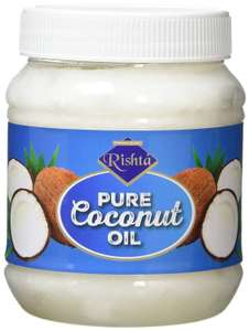 RISHTA Pure Coconut Oil Plastic Jar, 500 ml (Pack of 12) @ Amazon £12.09 Prime £14.58 Non Prime