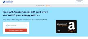 FREE £20 Amazon Voucher AND save ££££ getting a better best Gas & Electric Deal @ uswitch