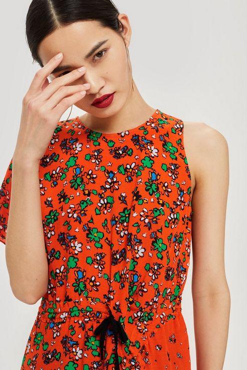 Floral Print Ruched Top £5 @ Top Shop