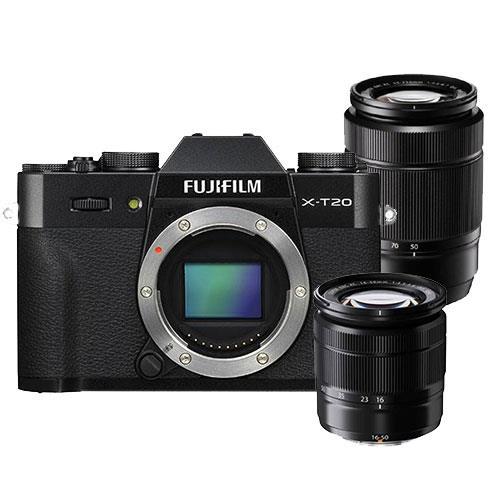 Fujifilm X-T20 Camera in Black with XC16-50mm + 50-230mm Lens £829 @ Jessops (£649 after Fuji cashback)