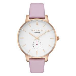 Ted Baker Rose Gold Water Resistant Watch + Ted Baker Gift Box + Free Delivery (Was £155 @ Amazon) - £65.25 @ HillierJewellers