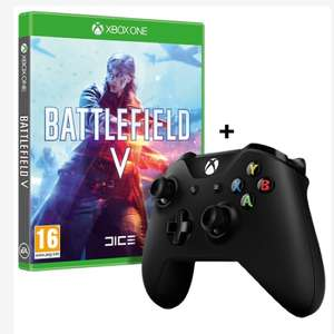 Battlefield V Xbox One Game + Official Black, White or Red Wireless Controller £67.99 (£66.57 with TCB) at 365games