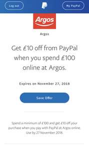 Get £10 off when you spend £100 at Argos using PayPal (Google Home Hub and £1 sim card for £90?)