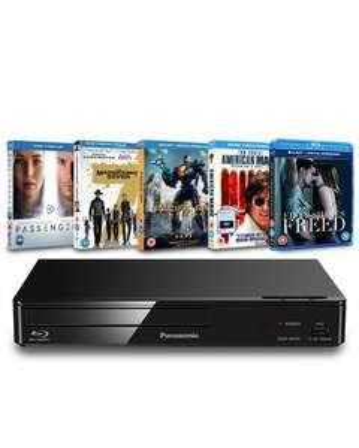Panasonic: Blu-ray Player + 5 Blu-ray Bundle (Zoom Exclusive Hardware Bundle) (DMP-BD84EB-K) for £49.99 Delivered @ Zoom