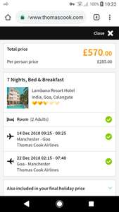 From Manchester: 7 Nights in Goa B&B £285pp@ Thomas Cook