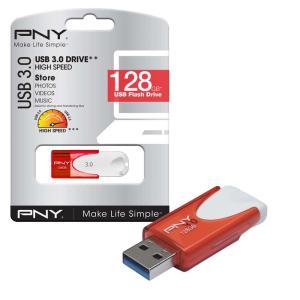 PNY Attache USB 3.0 Flash Drive USB 3.0 Memory Stick 80MB/s- 128GB - £13.99 @ 7dayshop