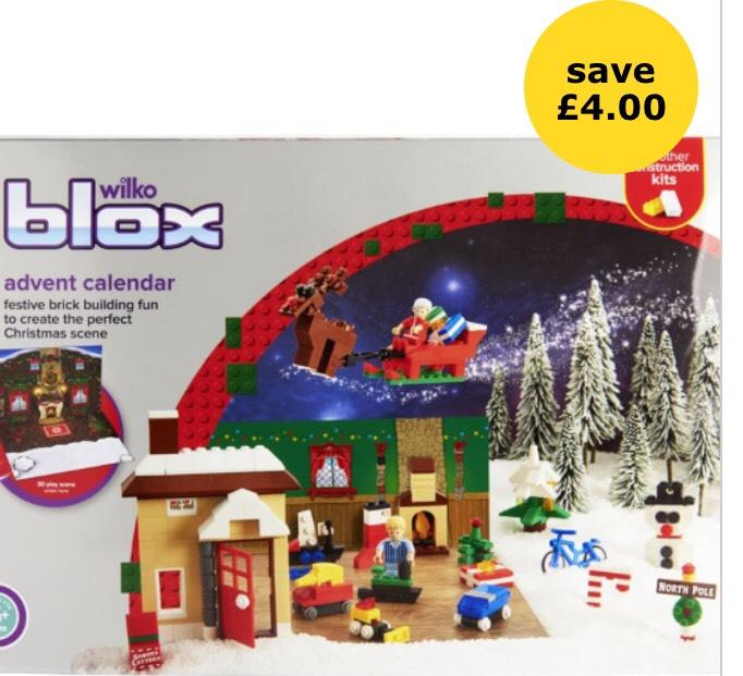 Wilko Blox Advent Calendar was £10 now £6 instore and Online