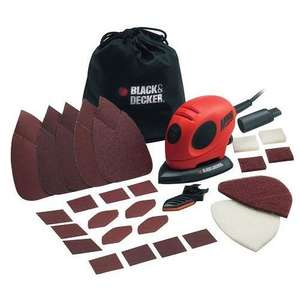 Black & Decker 55W Mouse Sander with Accessory Kit  For £16.99 Free C&C w/c @ RobertDyas