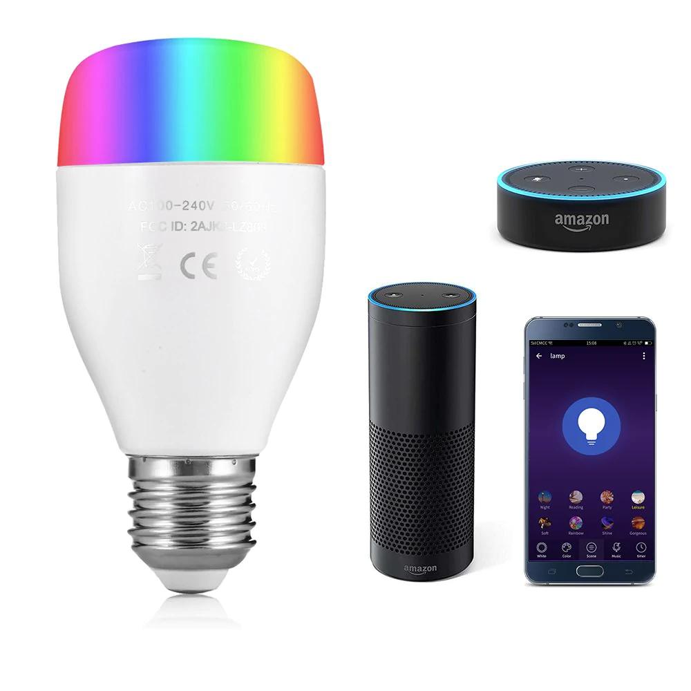 Utorch LE7 E27 Smart WiFi RGBW LED Light Bulb £6.23 @ Rosegal