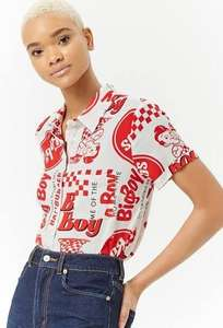 Bob's Big Boy Restaurants Women's Graphic Print Shirt - £6.30 Delivered ('TGIBF') (£5.50 Students) (Was £18) @ Forever 21 | Collector's Item