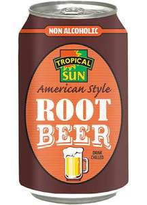 Tropical Sun American-Style Root Beer (330ml Can) - £0.35 (Was £0.50) @ Sainsburys | Sugar Levy Applied