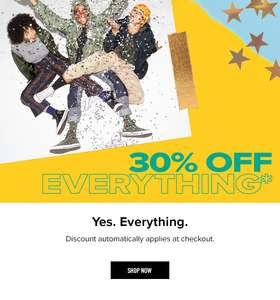 30% OFF everything at Converse includes up to 50% off sale + FREE Delivery