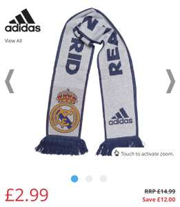 adidas RMCF Real Madrid Home Scarf Crystal White/Raw Purple (was £14.99) £2.99 @ M&MDirect £4.99 P&P