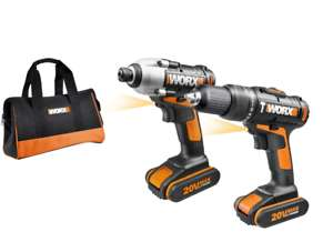 WORX WX938 18V (20V MAX) Li-Ion Impact Driver and Hammer Drill - positecworx@Ebay