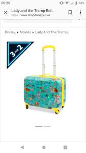 Lady and the tramp rolling luggage £17.50 @ shopdisney