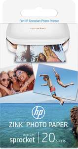 Sprocket HP W4Z13A 2 x 3 Inch Zink Sticky-Backed Photo Paper - Amazon DOTD £6.43 (Prime) / £10.92 (non Prime)  for 20 Sheets