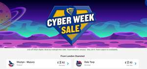 £2.92 for a flight - cheaper than meal deal - Ryanair Cyber week sale