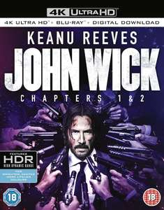 John Wick: Chapters 1 & 2 - 4k Ultra HD + Blu-ray + Digital Download UHD HDR (£44.99 on Amazon) - £23.48 (£​11.74 each) Delivered @ Zavvi