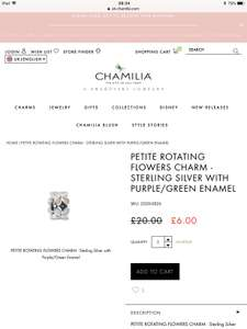 Chamilia Charms From £3.60 (Free Delivery Over £50) with Code at Chamilia Online
