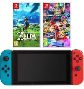 Nintendo 5027757117527 Switch Neon with Mario Kart 8 deluxe + The Legend Of Zelda £299 ebay / AO on eBay