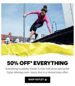 50% off everything at Adidas Outlet store and an added 30% with code