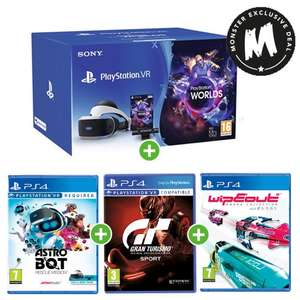 Sony PlayStation VR Starter Kit + Astro Bot + Gran Turismo Sport + Wipeout Omega Collection £199.99 at Monster-Shop