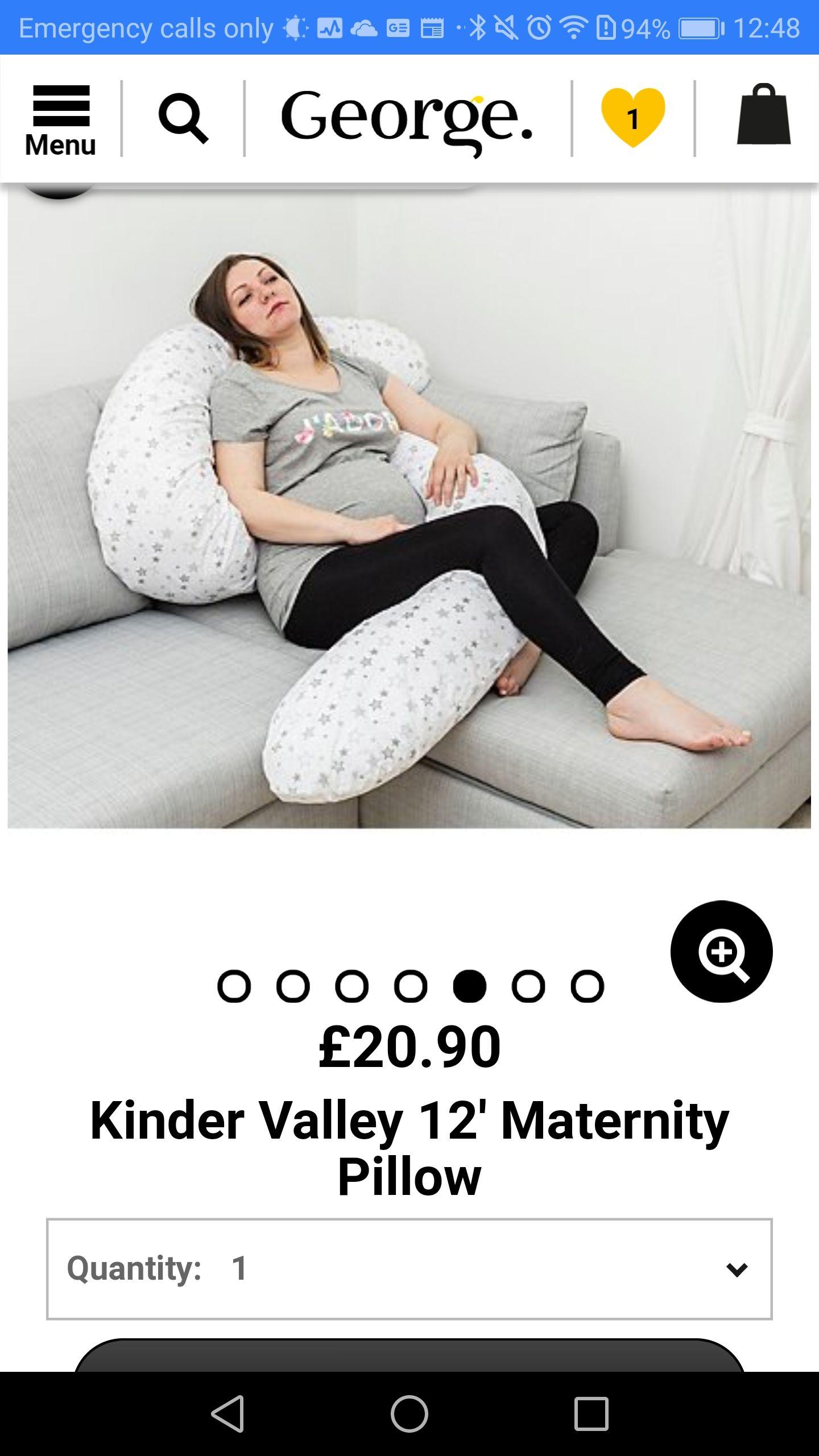 3.65 metres pregnancy pillow £20.90 Asda George