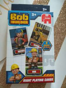 Large Bob the builder playing cards 49p @ Home bargains