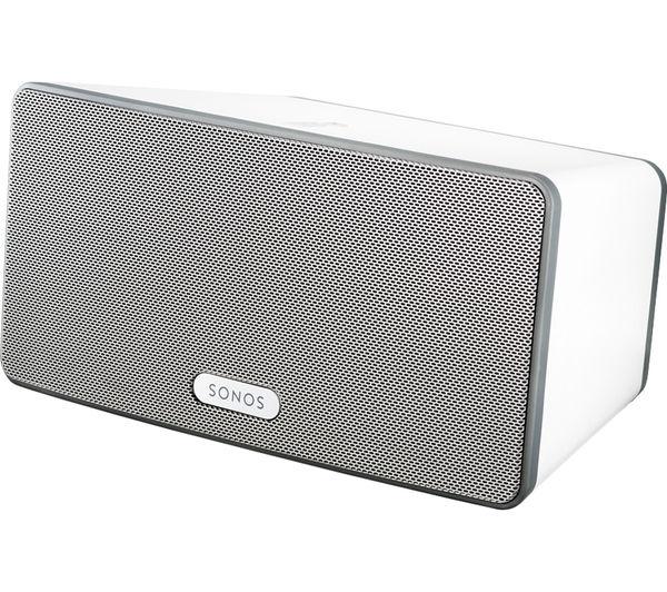 SONOS PLAY:3 Wireless Smart Sound Multi-Room Speaker + 9 Months Deezer - White - £199 C&C Only @ Currys