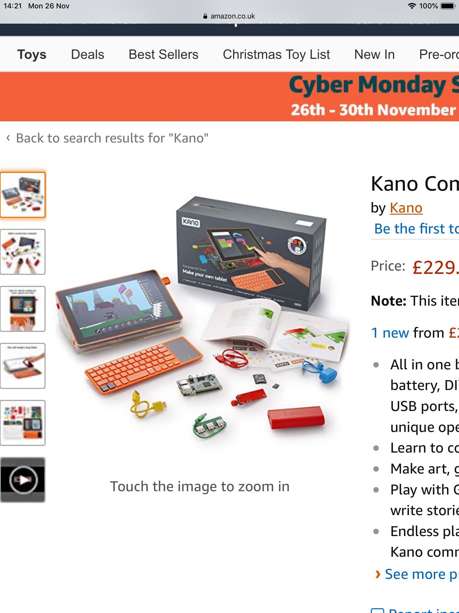 Kano computer Touch (kids raspberry pi -built like l e g o)