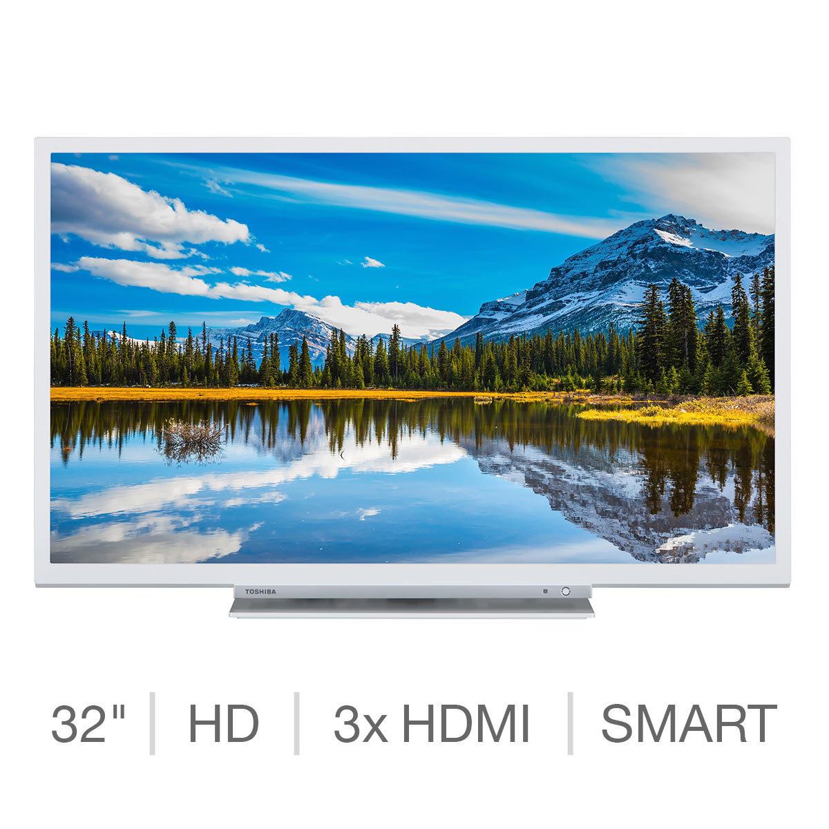 Toshiba 32W3864DB 32 Inch HD Ready SMART TV in White £144.99 @ Costco