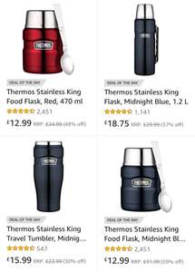 Upto 50% off Thermos Food and Drink Flasks @ Amazon
